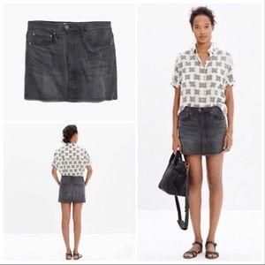Madewell Black Denim Mini Skirt